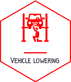 Vehicle Lowering Icon - auto Mechanical shop - somerton tyres: best tyres and mags campbellfield