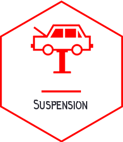 Suspension - vehicle repair Campbellfield red icon - somerton tyres: best tyres and mags campbellfield